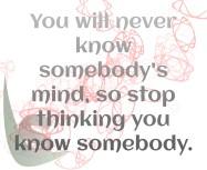 Know somebody's mind