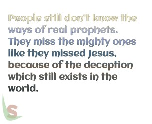 Real prophets