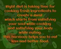 Right diet
